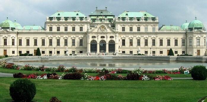 бельведер фото, дворец бельведер вена, австрия фото вена
