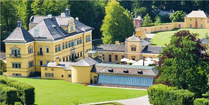 Дворец Хельбрунн, зальцбург фото