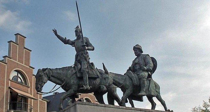 памятник-дон-кихоту, памятник дон кихоту в мадриде