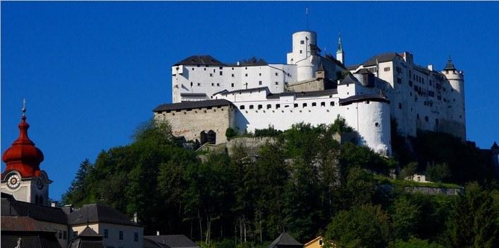 Дворец Хоэнзальцбург, зальцбург достопримечательности фото