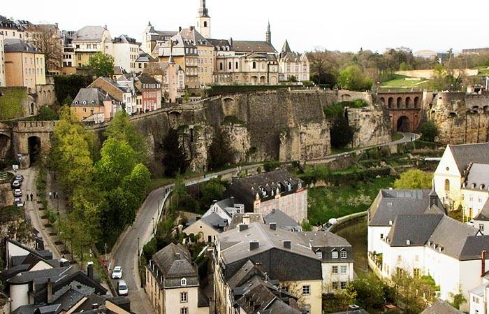 вид на Старый город, Люксембург