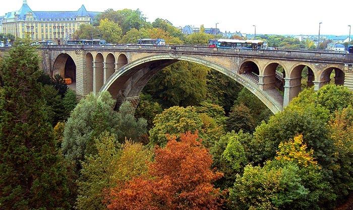 люксембург фото, старый мост, виадук Passerelle