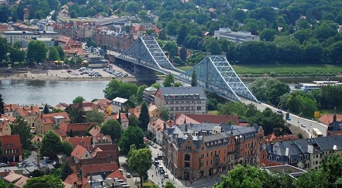 дрезден мост голубое чудо