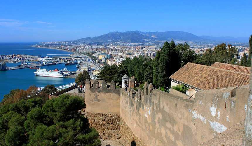 малага испания крепость Хибральфаро