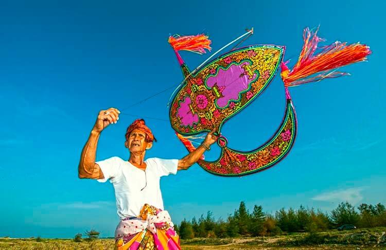 воздушный змей вау малайзия